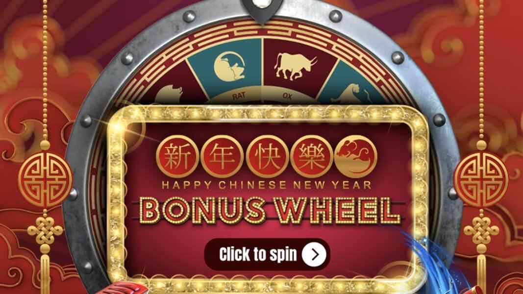 ZAR Casino Chinese New Year Wheel Of Fortune