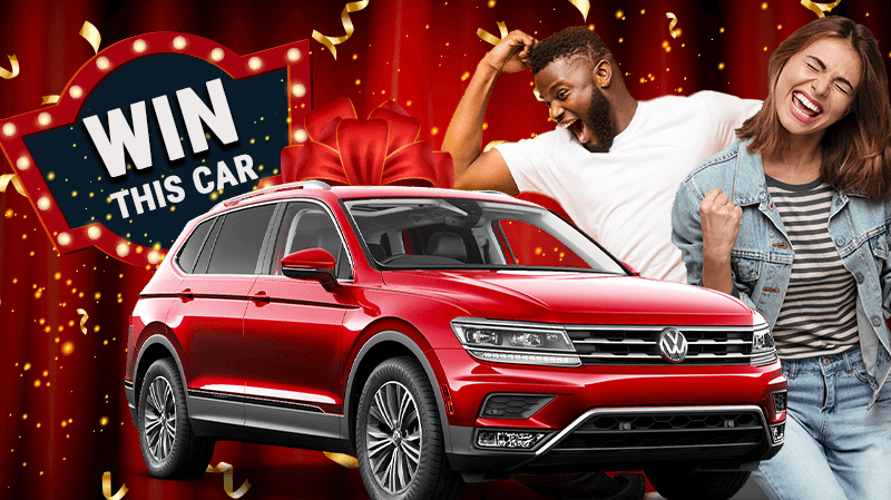 Drive off in a New VW Tiguan