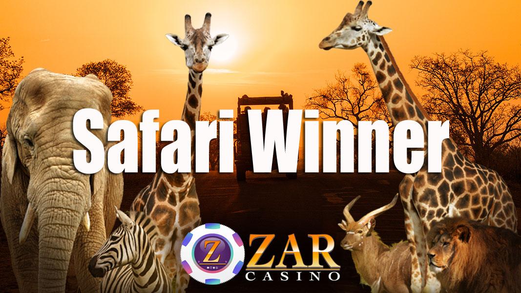 ZAR Casino Safari Winner
